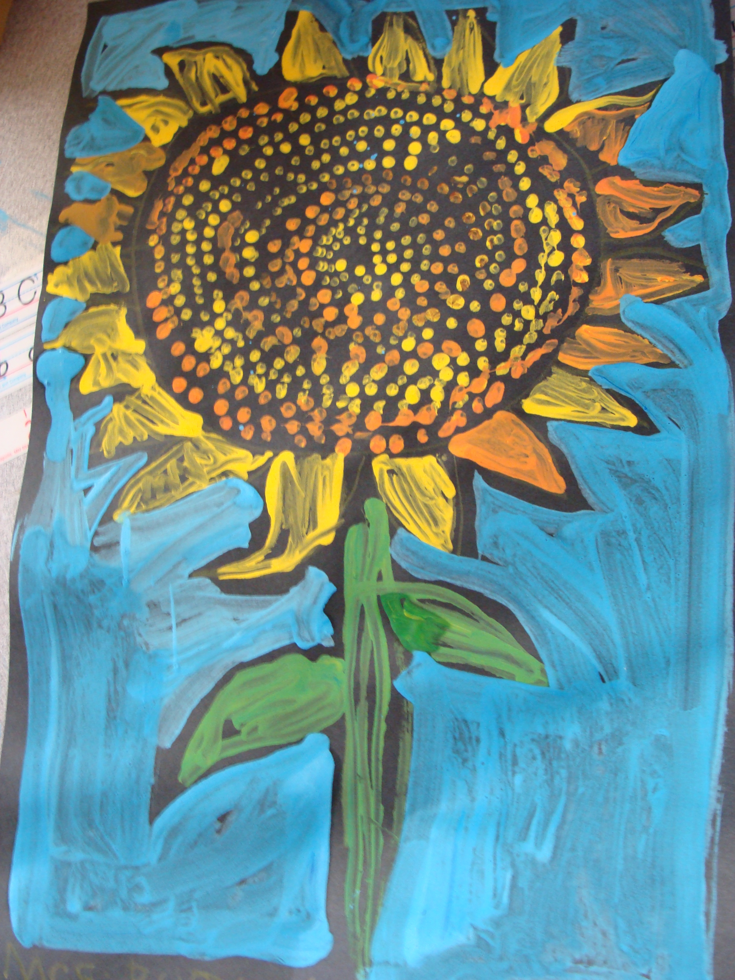 Vincent Van Gogh Paintings Sunflowers The 1st Grade Sun Flower Painting Art Gallery Dedicated