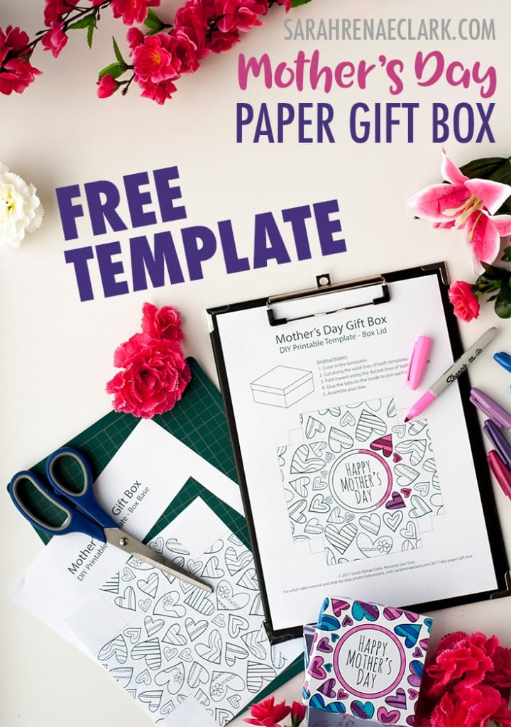 How to Make a Paper Gift Box Free Template for Mother\u0027s Day - gift box templates free download