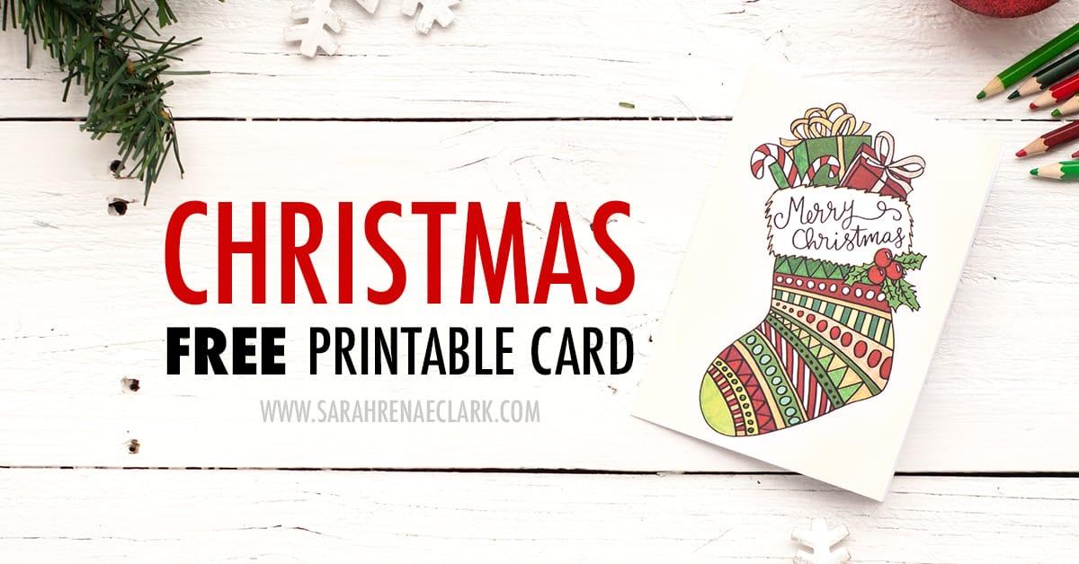 Free Christmas Card Printable Template (Coloring Page Christmas Card)