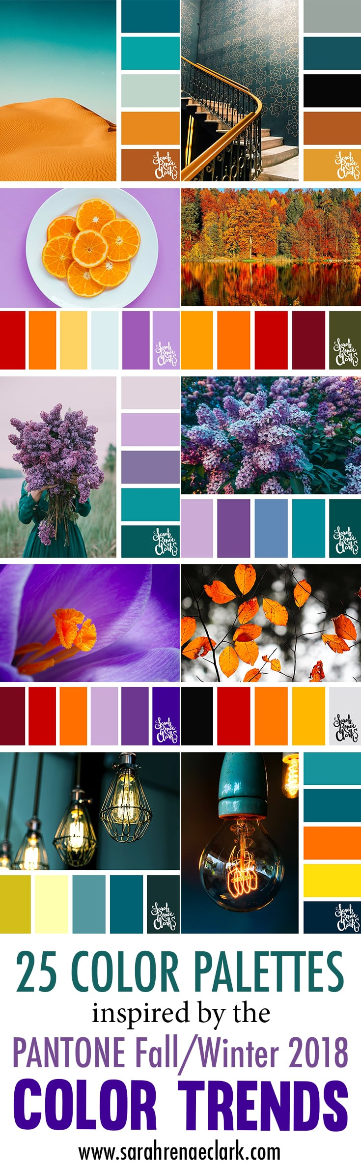 Color Trends Fall 2018 25 Color Palettes Inspired By The Pantone Fall Winter 2018 Color