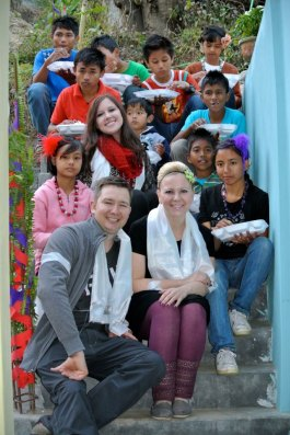 Sarah and Phil in India