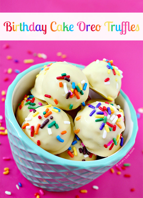 Birthday Cake Oreo Truffles – Golden Birthday Cake Oreos pummeled ...