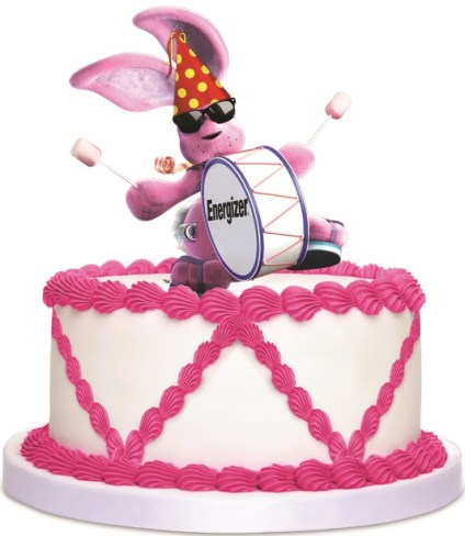 Bunny on Birthday Cake