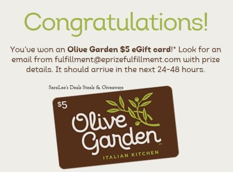 Olive Garden Ecard Better Together Sweepstakes And Instant