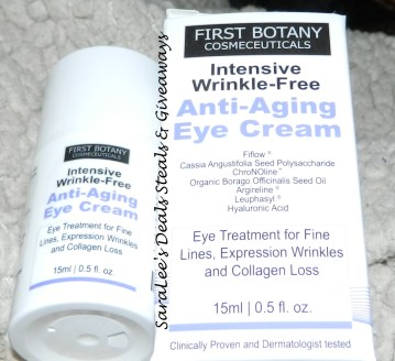 First Botany Cosmeceuticals: Intensive Wrinkle-Free Anti-aging Eye cream