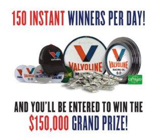 Valvoline - 150 Instant Win & Sweepstakes