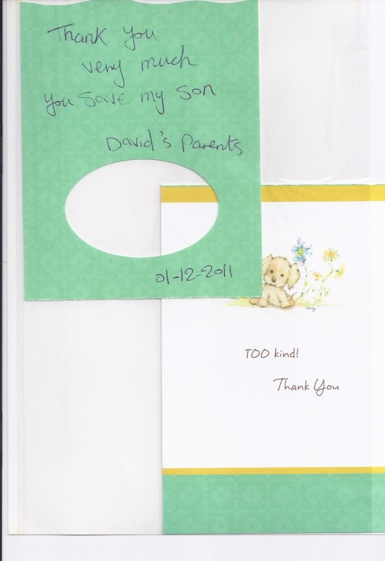 Thank-you-note-Davids-Parents - Sarasota Children\u0027s Clinic