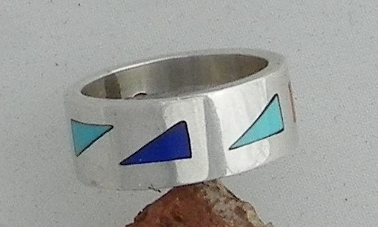 Inlay Ring by Robert M. Gress..sz 8