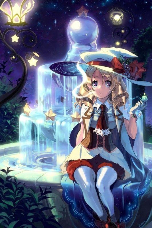 Cute Anime Girl Live Wallpaper Manga Sorciere Et Fontaine