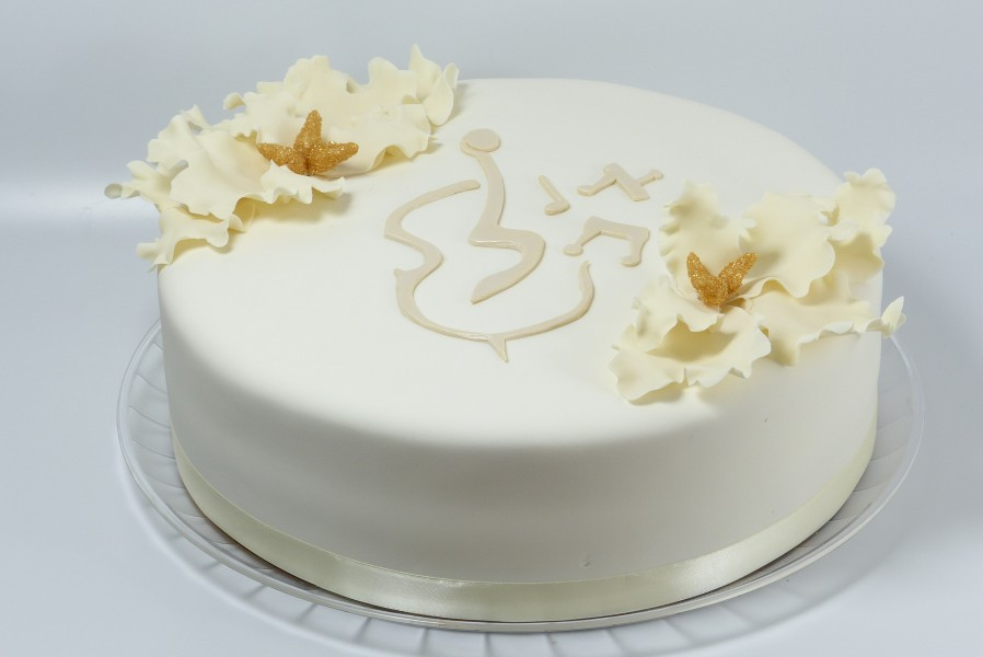 Monogram cake to match invitation