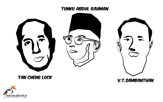 Tunku, Tan Cheng Lock dan Sambanthan