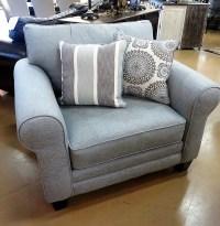 Misty Blue Chair and a Half - Sardis Marketplace