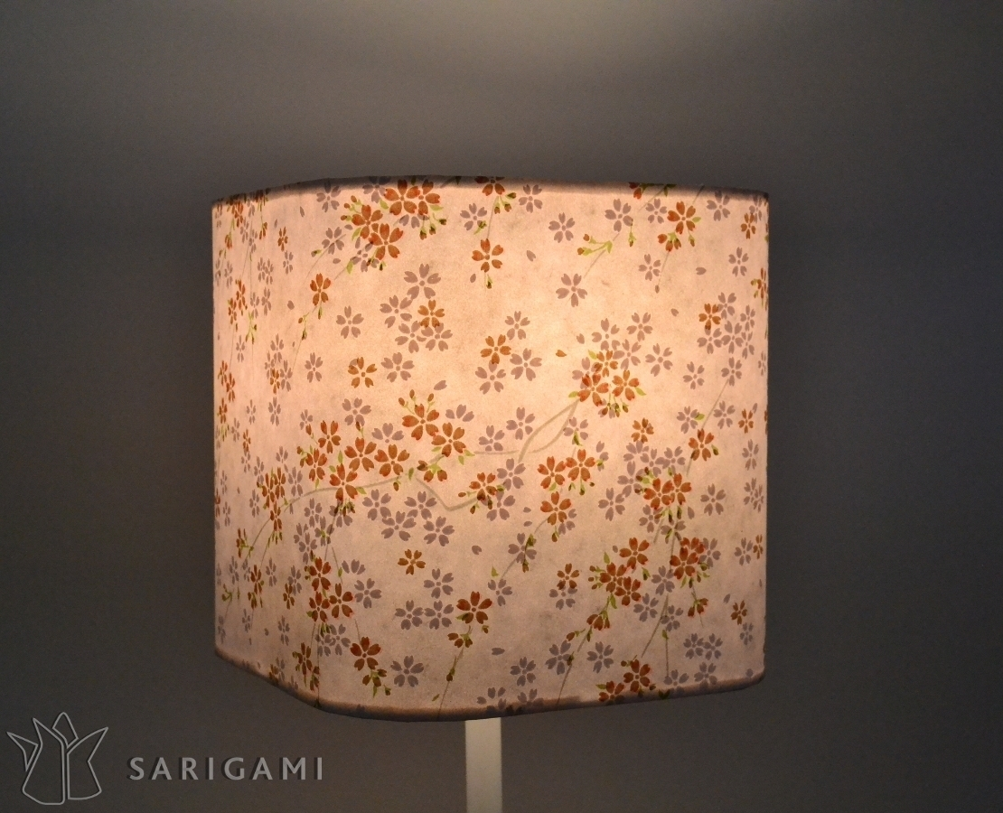 Lampe Papier Pink Lampshade With Flowers