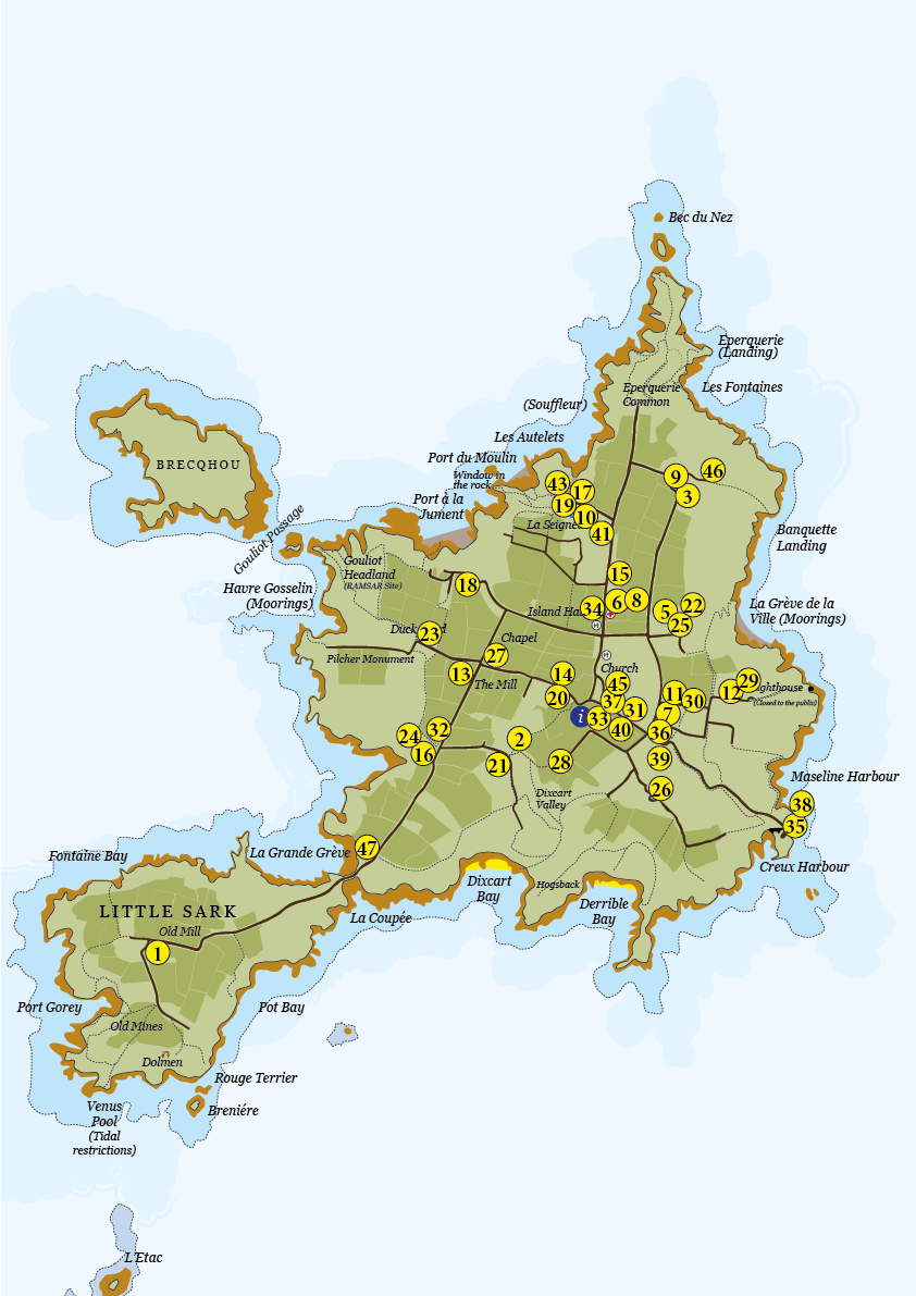 Guest House B&b Map | Sark Island Tourism