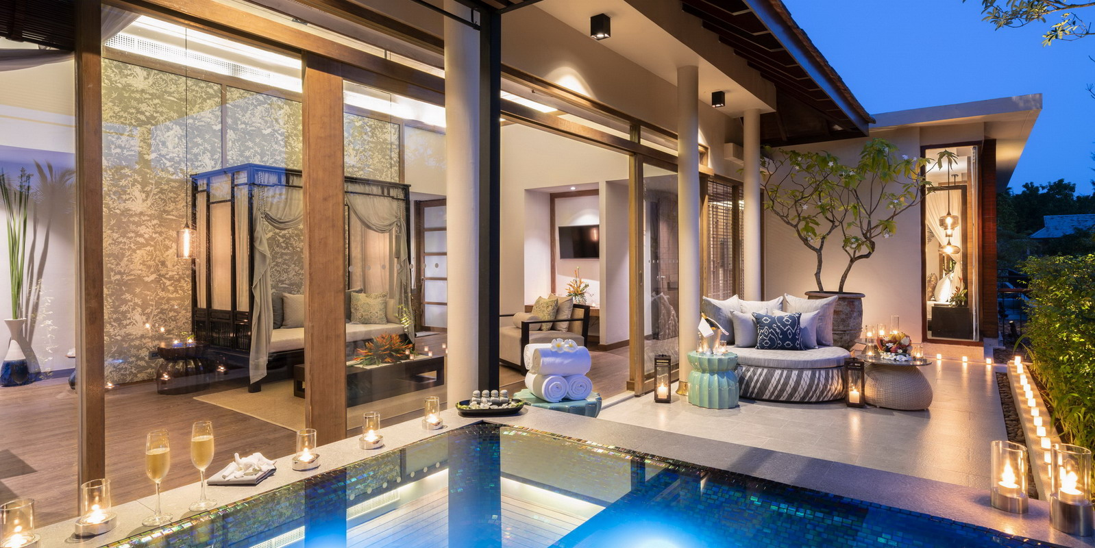 Zen Jacuzzi Pool With Exclusive Lounge Residences The Sarojin Khao Lak Luxury Boutique Beach Resort