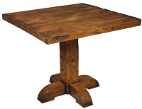 "42"" Square Pub table Solid fruit wood Rustic old bar style"