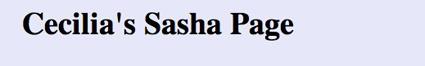 Cecilias Sasha Page