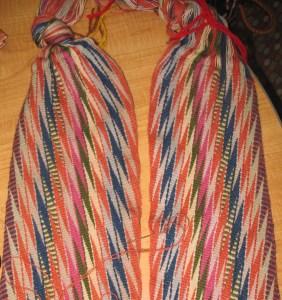 Assomption variation #3, two strips sewn together