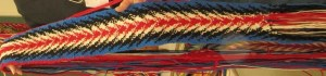 sash woven using instructions from the book, Fingerweaving Untangled