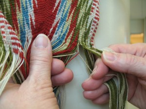 the beginning of the 'weaving too far' solution