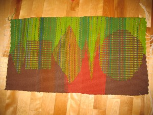 Loomwoven wool carpet