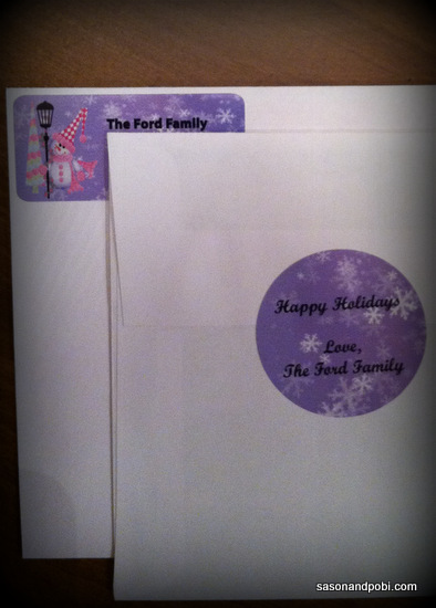Holiday Return Address Labels And Gift Seals