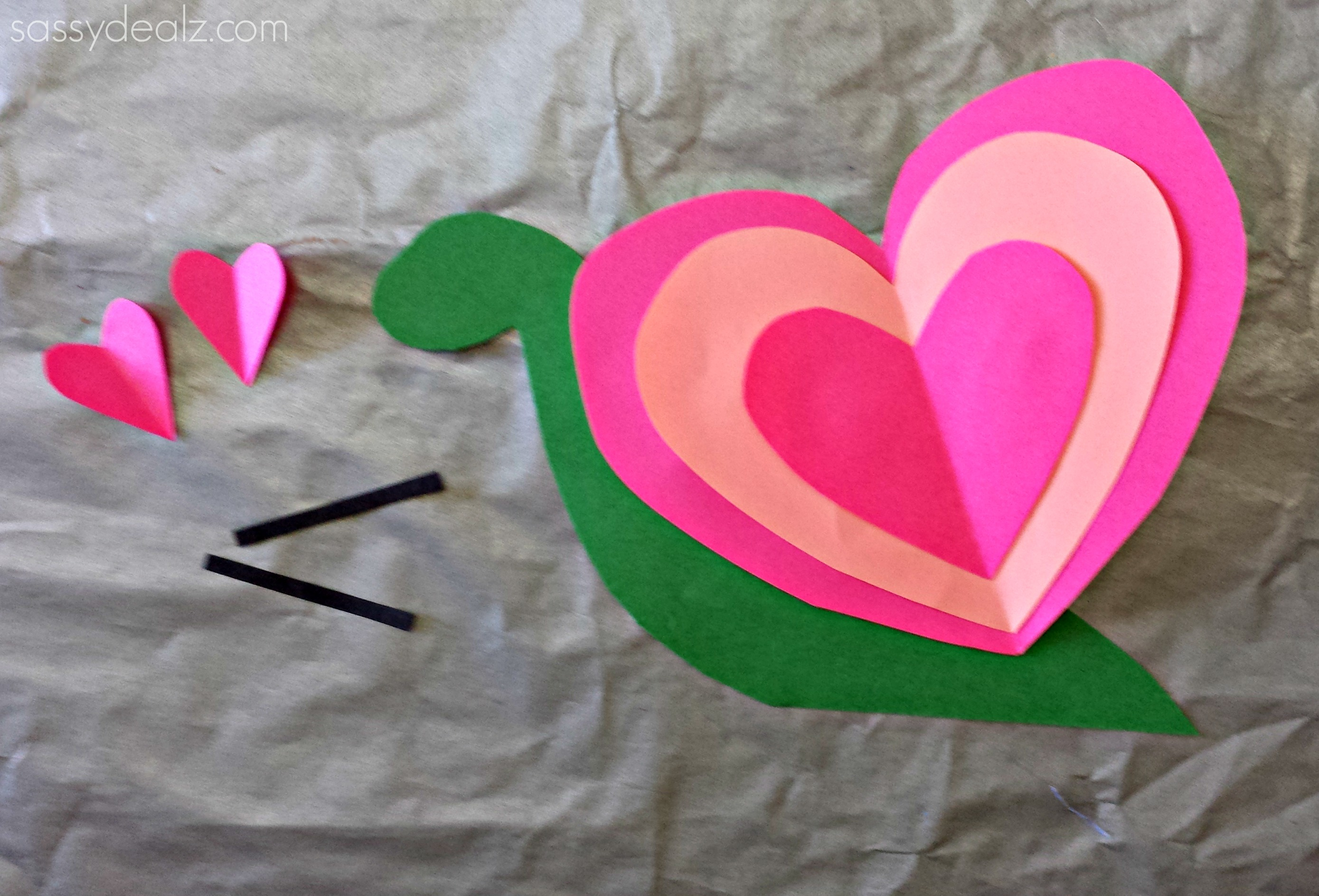 Art And Craft For Preschool Heart Snail Craft For Kids Valentine Art Project Crafty Morning