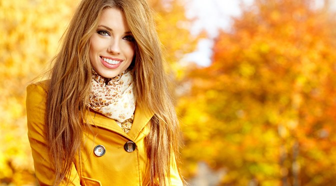 Fall Makeup Trends Young-woman-with-autumn-leaves