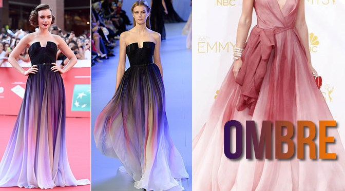 Celebrities in Ombre Dresses and Gowns Runway JPG