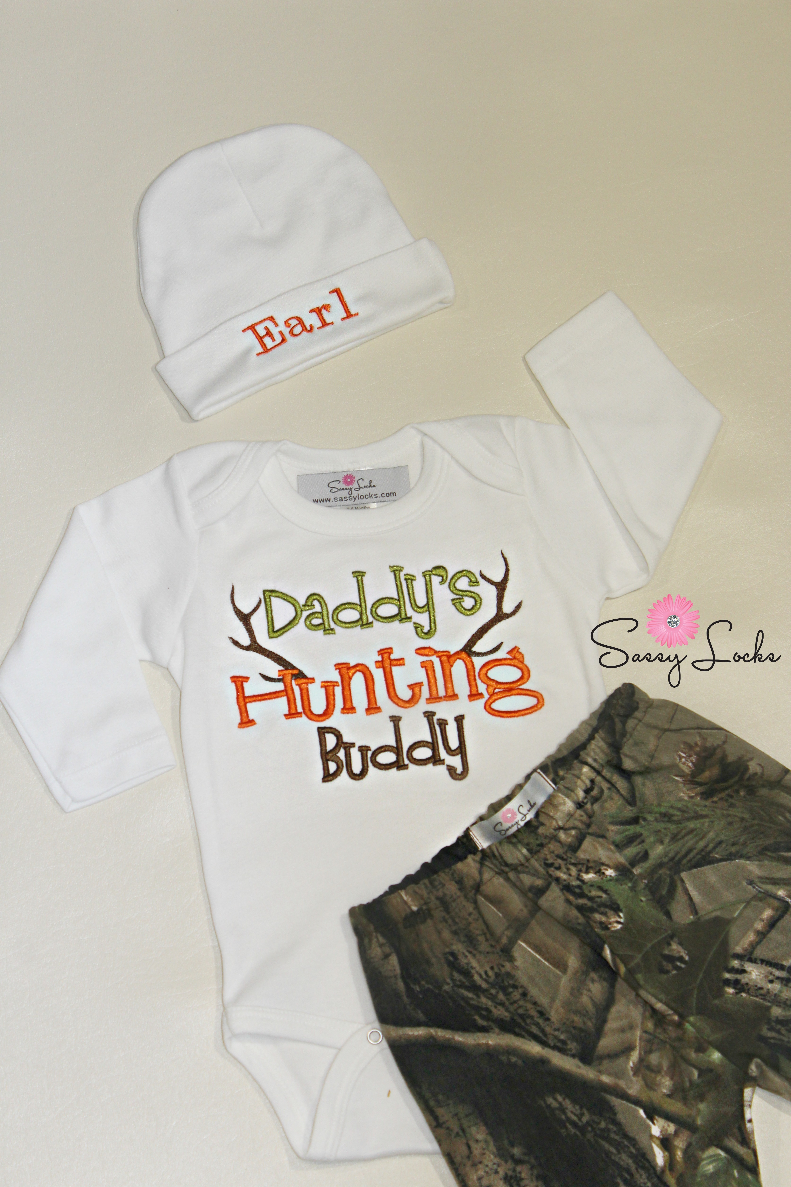 Laundry Bag For Baby Clothes Deer Hunting Baby Boy Clothes With Personalized Hat Pants