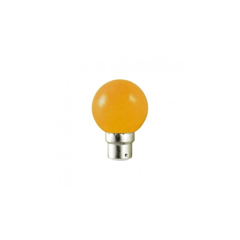 Ampoule Baionnette Ampoule Led B22 Bulb Opaque Orange 1w 9w