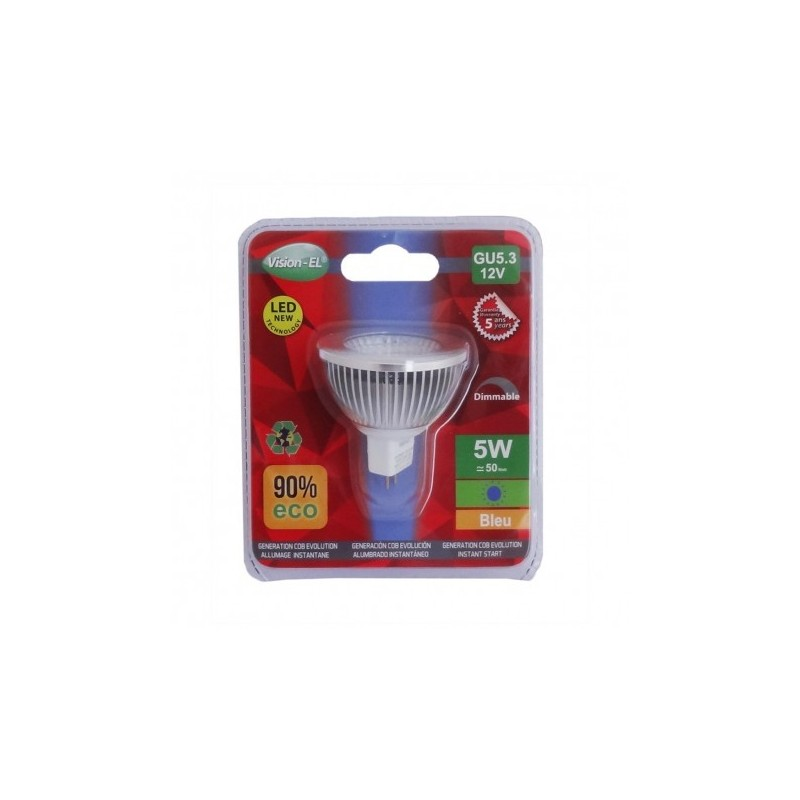 Ampoule Led Dimmable Ampoule Led Dimmable Gu5 3 Spot Bleu 5w 45w
