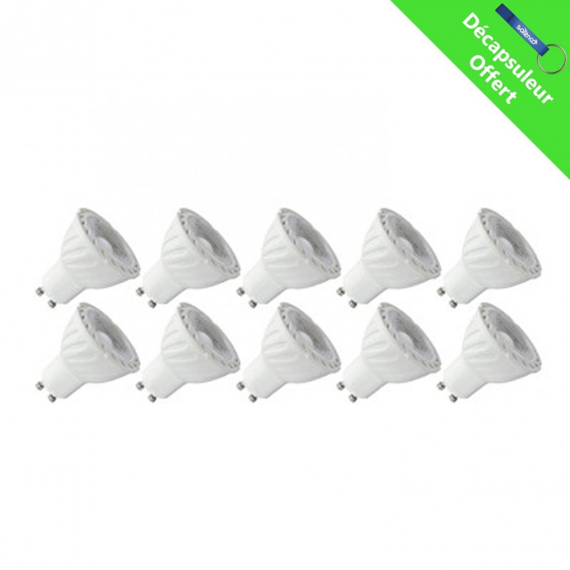 Ampoule Led Dimmable Pack 10x Ampoule Led Dimmable Gu10 Spot Blanc Chaud 6w