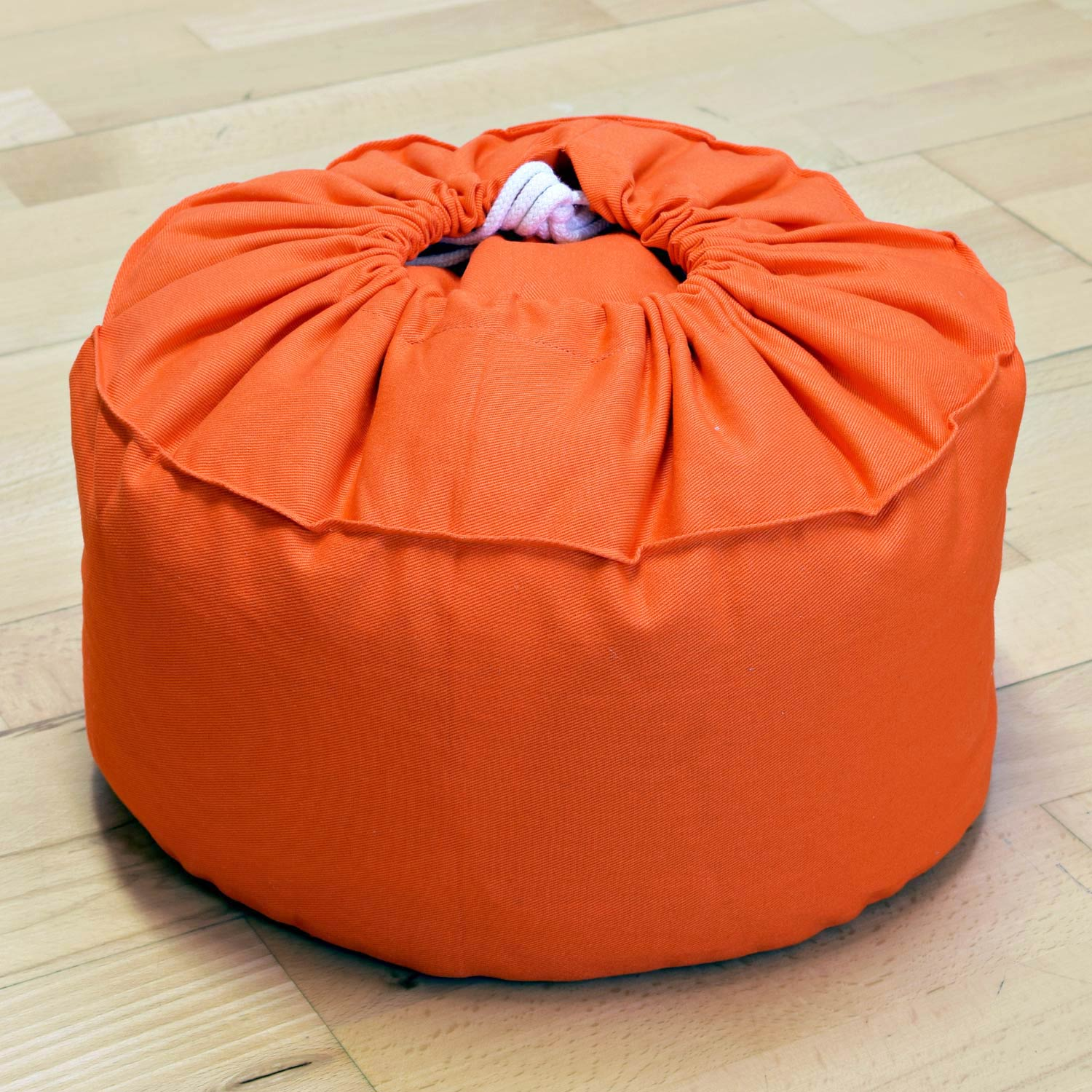 Kissen Orange Meditation Cushion Baghi Round Heart Flower Orange