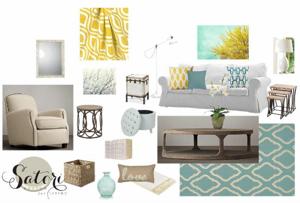 Living Room Color Palette 3 Ways