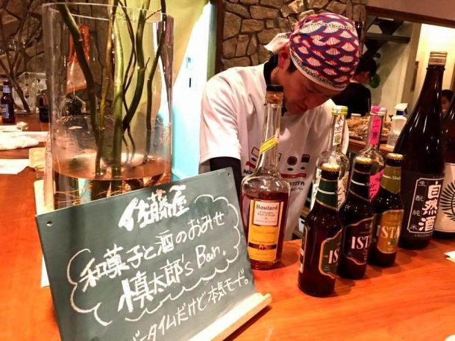 慎太郎's Bar「杮night」天童鎌田工務店モデルハウスにて。佐藤屋八代目による和菓子と酒のバータイム