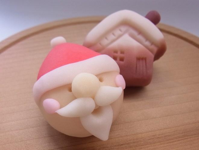 山形、佐藤屋のクリスマス和菓子「聖者の行進」はねりきり製