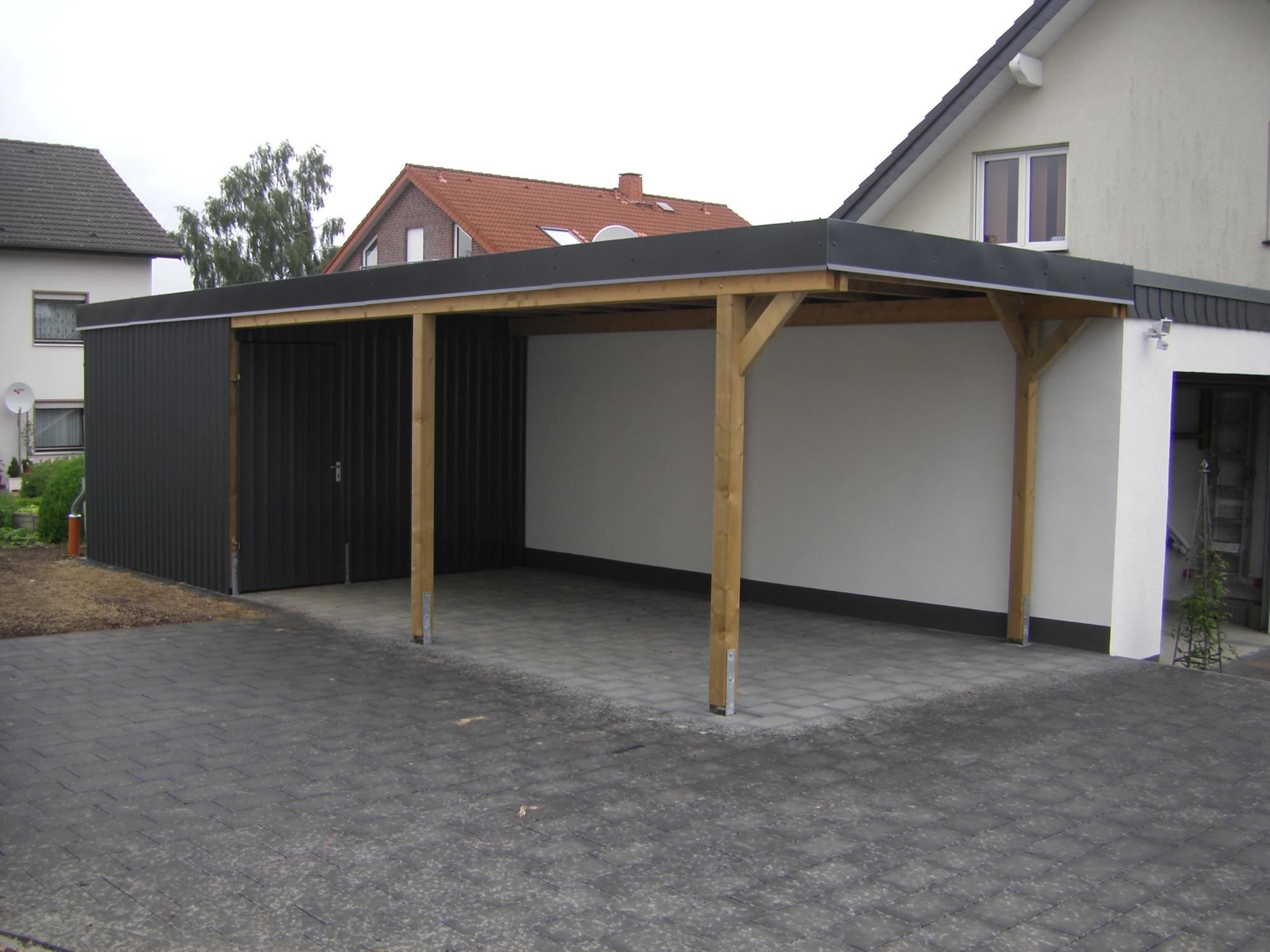 Garage Carport Kombination Carport Garage Kombination Holz Cool Holzcarport With Carport