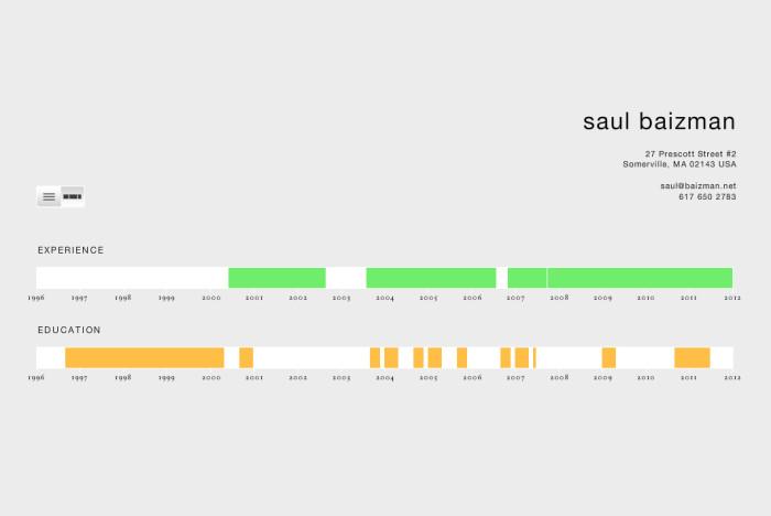 Interactive Resume \u2013 saul baizman designer  developer  educator