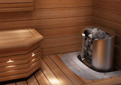 Sauna finlandesa, quality, madera, body, relaxing, led, rocas volcánicas