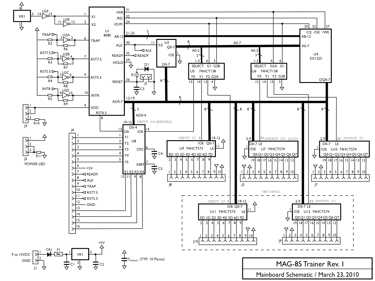 circuit diagram of 8086 microprocessor