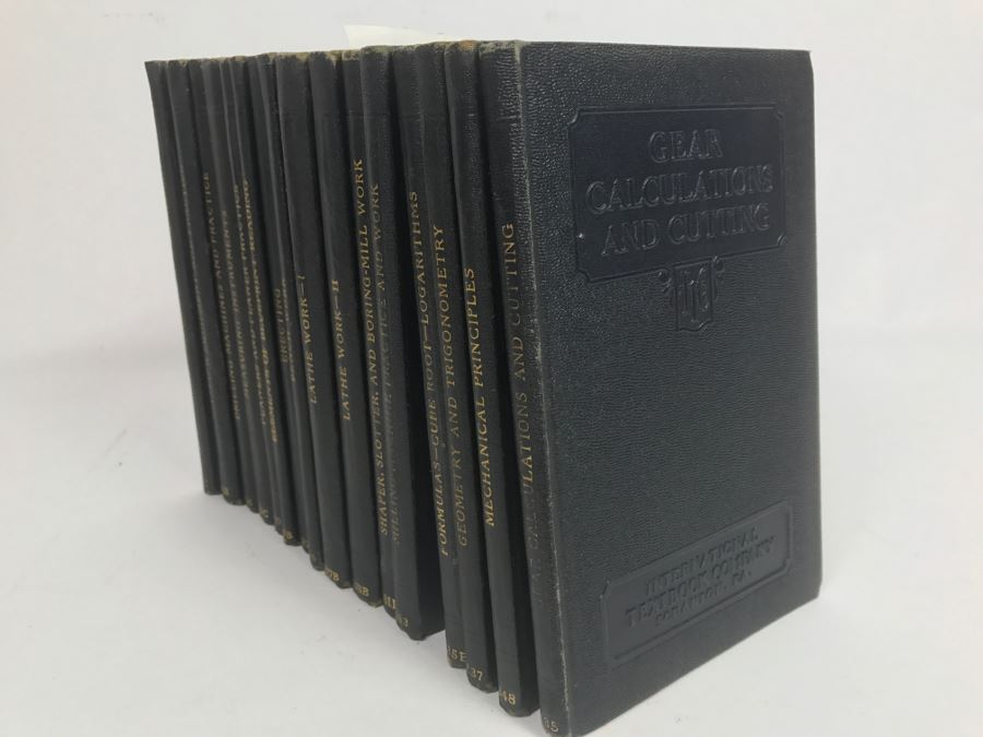 Set Of (16) Vintage 1928 Woodworking Book Collection Published By