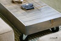 DIY Industrial Reclaimed Wood Coffee Table