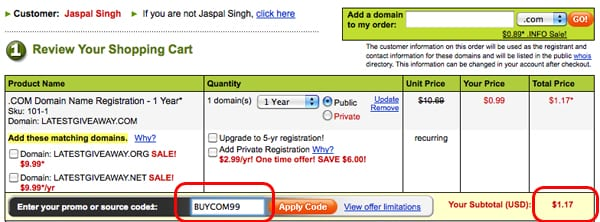 godaddy december coupon for 1 domain Use Godaddy Coupon December 2009 and get a domain in $1 only