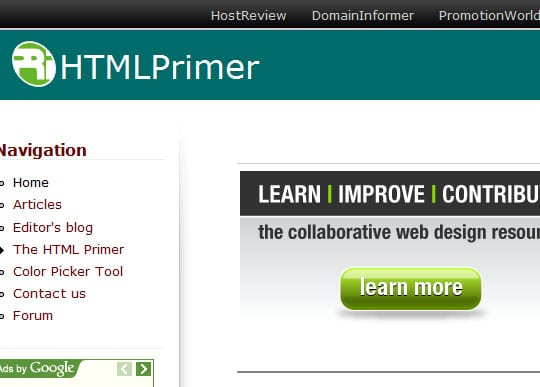 HTMlPrimer 15 Best Websites that can make you a Web Designer