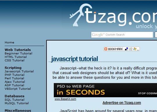 tizag 15 Best Websites that can make you a Web Designer