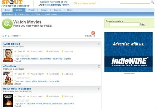 spout e1275378796611 Top 10 Social Networking Websites For Movie Lovers