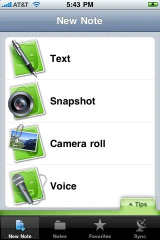 evernote 42 Best And Free iOS 4 Apps For Your iPhone