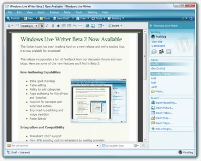 free windows live writer e1278102236896 Top 10 Free Microsoft Products Worth Checking Out