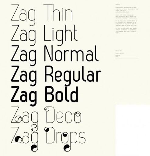 zag e1279957258775 25 High Quality And Creative Fonts For Free Download